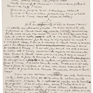 Eugene Dabit. Autograph Manuscript.  ...