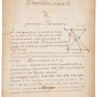 """Alexis Claude Clairaut. Autograph Document Signed. """"Clairaut lé Cadet"""""""
