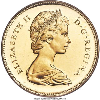 Elizabeth II gold Proof 20 Dollars 1967 PR68 Cameo PCGS,...