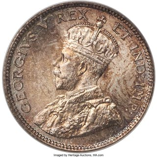George V 10 Cents 1911 MS67 PCGS,...