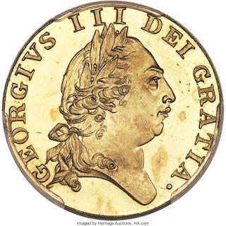 George III gold Proof Guinea 1787 PR64 Deep Cameo PCGS,...