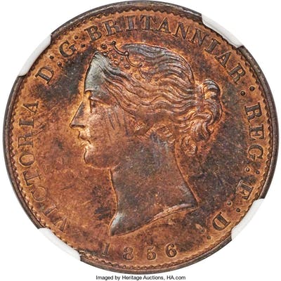 "Nova Scotia. Victoria bronze Specimen ""Mayflower"" 1/2 Penny Token"
