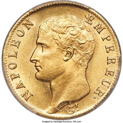 Napoleon gold 20 Francs 1806-A MS64 PCGS,...