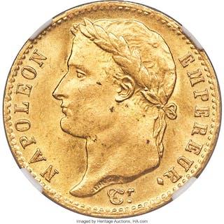 "Napoleon gold ""Hundred Days"" 20 Francs 1815-A MS65 NGC,..."