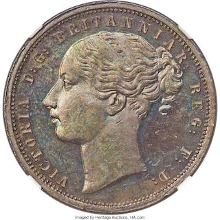 Griquatown. British Colony - Victoria copper Proof Pattern Penny ND
