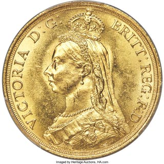 Victoria gold 2 Pounds 1887 MS64 PCGS,...