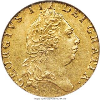 George III gold Guinea 1795 MS63 NGC,...