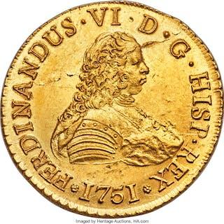 Ferdinand VI gold Shipwreck Recovery Set Containing 8 Escudos 1751