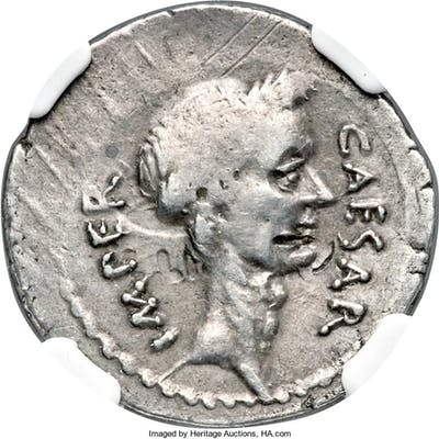 Julius Caesar, as Dictator (49-44 BC). AR denarius (19mm, 3.62 gm