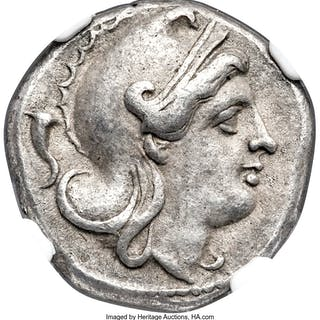 Anonymous. Ca. 265-242 BC. AR didrachm (18mm, 6.45 gm, 6h). NGC XF