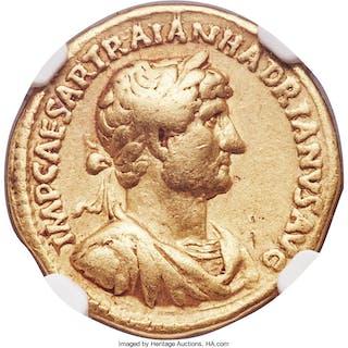 Hadrian (AD 117-138). AV aureus (19mm, 7.12 gm, 6h). NGC Choice Fine