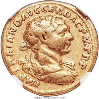 Trajan (AD 98-117). AV aureus (19mm, 7.02 gm, 7h). NGC Choice Fine