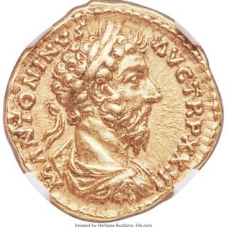 Marcus Aurelius, as Augustus (AD 161-180). AV aureus (20mm, 7.19 gm
