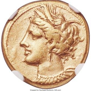 ZEUGITANA. Carthage. Ca. 320-280 BC. EL stater (19mm, 7.40 gm, 12h).