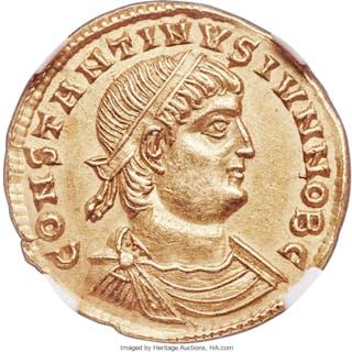 Constantine II, as Caesar (AD 337-340). AV solidus (22mm, 4.44 gm