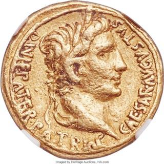 Augustus (27 BC-AD 14). AV aureus (18mm, 7.87 gm, 4h). NGC VF 5/5