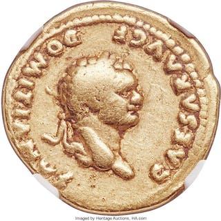 Domitian, as Caesar (AD 81-96). AV aureus (20mm, 6.98 gm, 5h). NGC