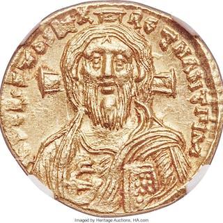 Justinian II, first reign (AD 685-695). AV solidus (19mm, 4.44 gm