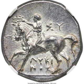 CALABRIA. Tarentum. Ca. 281-240 BC. AR didrachm or stater (19mm, 6.34