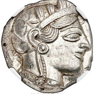 ATTICA. Athens. Ca. 440-404 BC. AR tetradrachm (24mm, 17.20 gm, 2h).