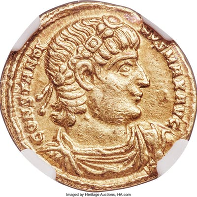 Constantine I the Great (AD 307-337). AV solidus (20mm, 4.42 gm, 5h).