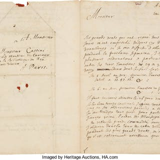 Jean Picard. Autograph Letter Signed. ...