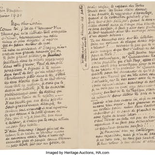 Camille Pissarro. Autograph Letter Signed.  ...