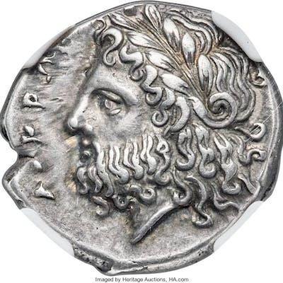 BRUTTIUM. Locri Epizephyrii. Ca. 4th-early 3rd centuries BC. AR stater