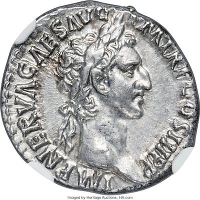 Nerva (AD 96-98). AR denarius (18mm, 3.34 gm, 5h). NGC Choice AU S