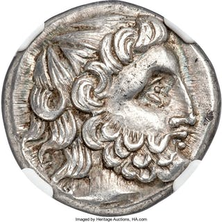 DANUBE REGION. Uncertain tribe. Ca. 3rd-2nd centuries BC. AR tetradrachm