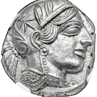 ATTICA. Athens. Ca. 440-404 BC. AR tetradrachm (24mm, 17.19 gm, 8h).