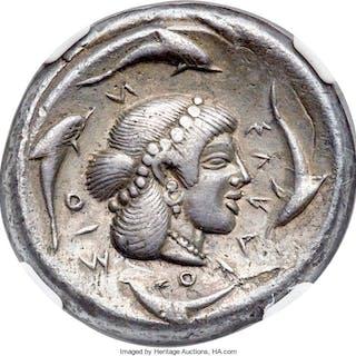 SICILY. Syracuse. Deinomenid Tyranny (ca. 475-470 BC). AR tetradrachm