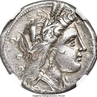 LUCANIA. Metapontum. Ca. 330-280 BC. AR stater or didrachm (21mm