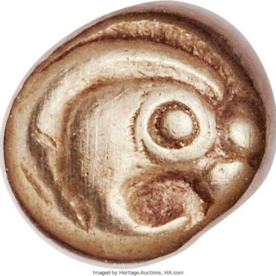 IONIA. Phocaea. Ca. 625-600 BC. EL 1/12 stater or hemihecte (8mm