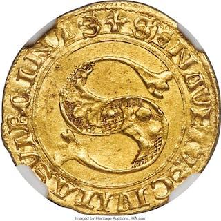 Siena. Republic gold Florin ND (1340-1450) AU58 NGC,...