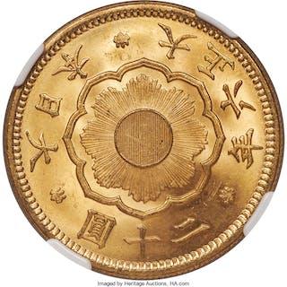 Taisho gold 20 Yen Year 6 (1917) MS64 NGC,...