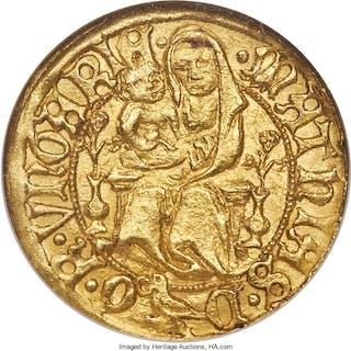 Matthias Corvinus (1458-1490) gold Goldgulden ND (1486) MS64 NGC,...
