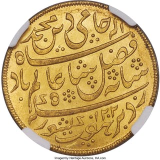 British India. Bengal Presidency gold Mohur AH 1202 Year 19 (1831-1835)