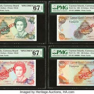 Cayman Islands Currency Board 5; 10; 25; 100 Dollars 1991 Picks 12s;
