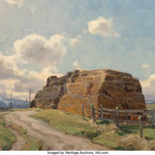 Clyde Aspevig (American, b. 1951) Haystack - The Old & New Oil on