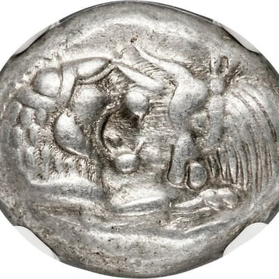 LYDIAN KINGDOM. Croesus or later (ca. after 561 BC). AR half-stater