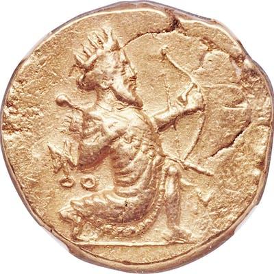 BABYLONIA. Alexandrine Empire. Ca. 328-311 BC. AV double-daric (18mm