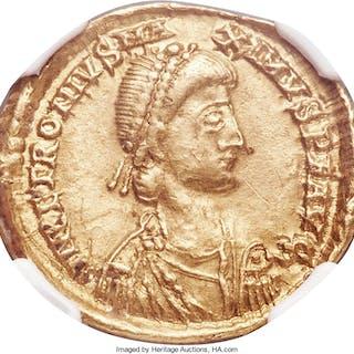 Petronius Maximus, Western Roman Empire (AD 455). AV solidus (21mm
