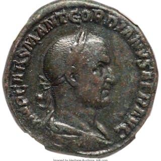 Gordian I Africanus (March-April AD 238). AE sestertius (28mm, 17.43