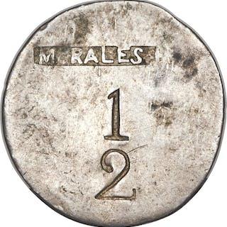 Mayari silver 1/2 Real Token ND (1800s) VF/XF, ...