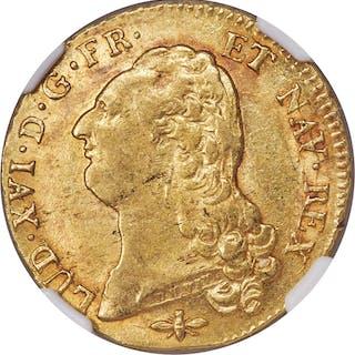 Louis XVI gold 2 Louis d'Or 1786-D MS60 NGC,...