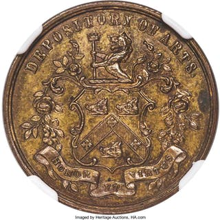 New Brunswick Private 1/2 Penny Token ND (1845) MS63 Brown NGC,...