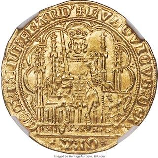 Flanders. Louis II de Mâle (1346-1384) gold Chaise d'or au lion ND