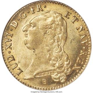 Louis XVI gold 2 Louis d'Or 1786-K MS61 NGC,...