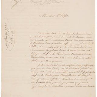 Augustin-Jean Fresnel. Autograph Letter Signed.  ...